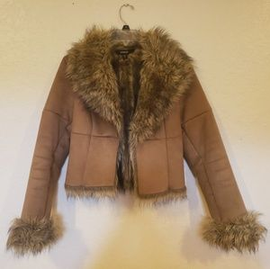 Brown Faux Fur Express Jacket